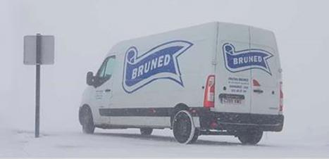 Transporte en vehículos refrigerados incluso cuando nieva